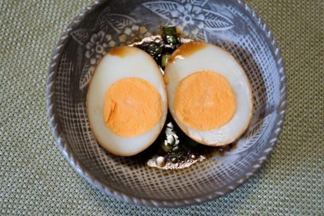 ゆで卵の香味ダレ