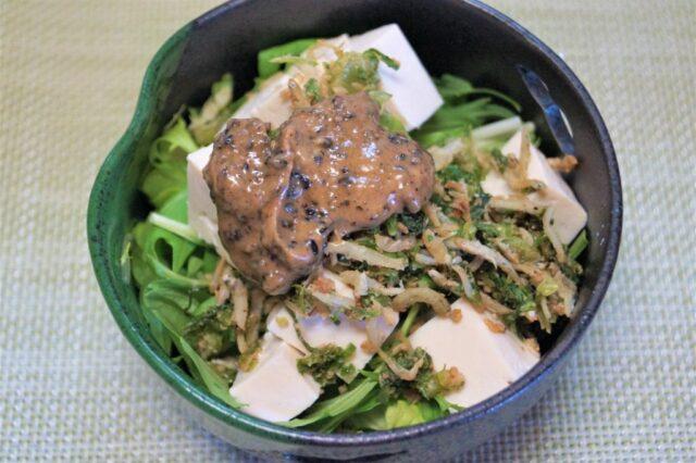 しらすと水菜の豆腐サラダ