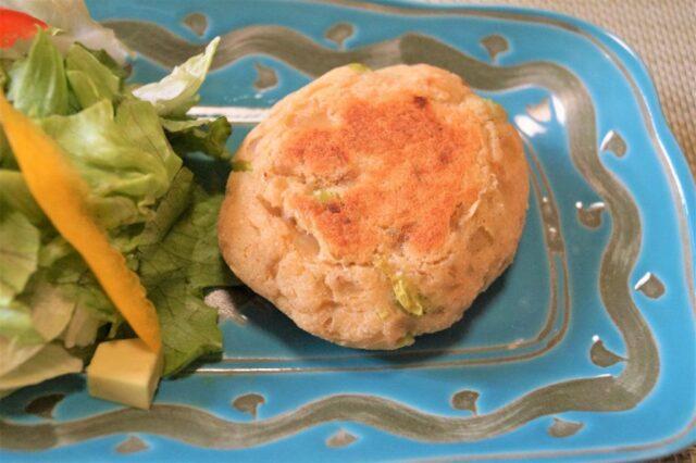 枝豆とおからの豆腐ハンバーグ