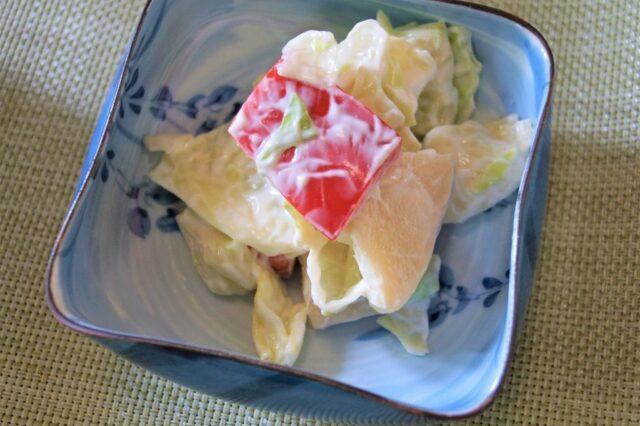 タケノコとキャベツの和え物