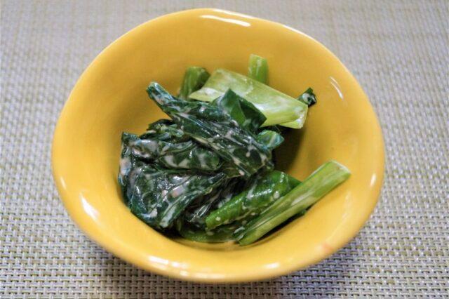 小松菜のマヨ和え