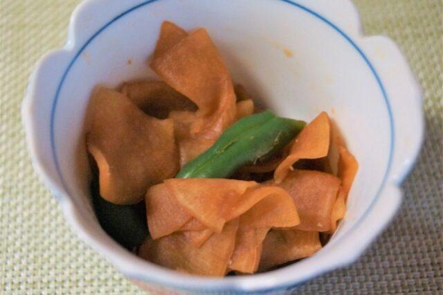 大根とインゲンの塩麹漬け