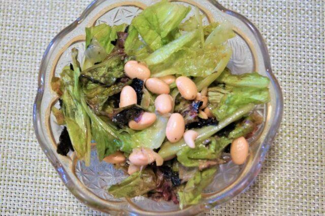 レタスと大豆の和え物