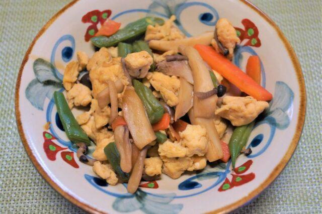 インゲンと卵の炒め物