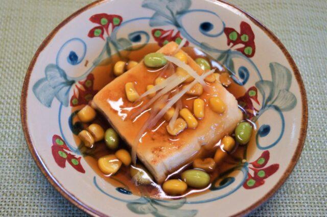 豆とコーンのあんかけ豆腐
