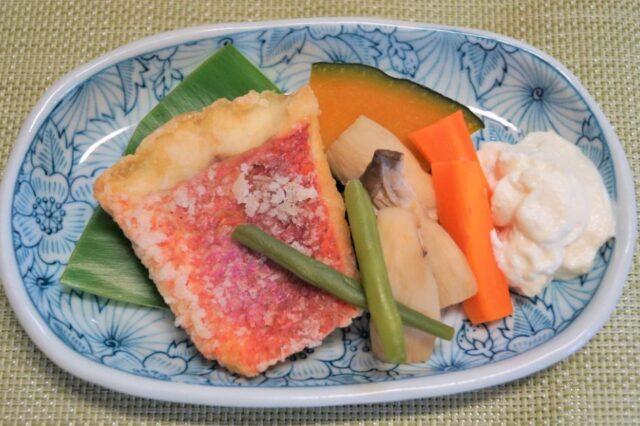 白身魚のソテー 野菜添え