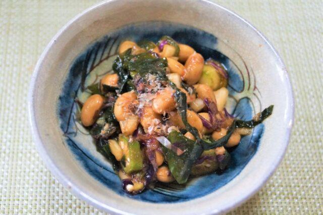 納豆とオクラの和え物